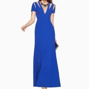 BCBGMAXAZRIA Estrella Sapphire Blue Gown Size 4
